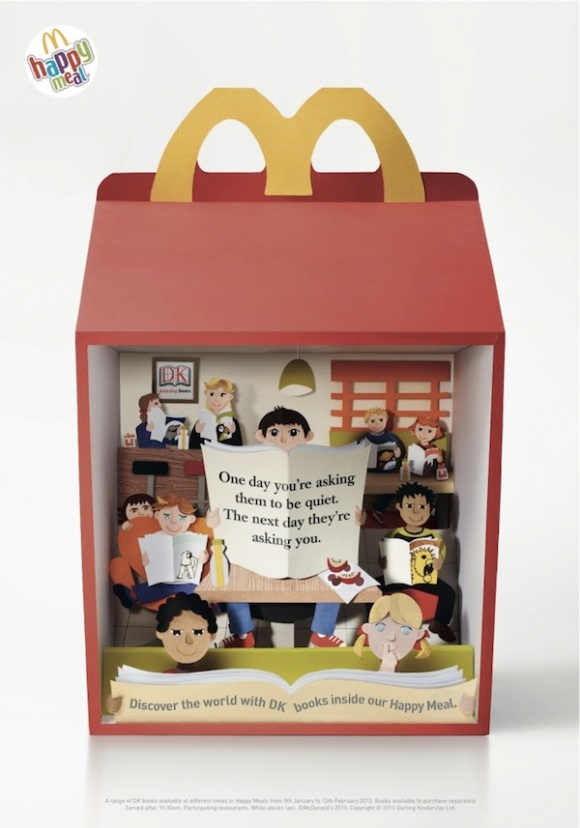 Wonderful Paper Scenes Created Within McDonald's 'Happy Meal' Boxes